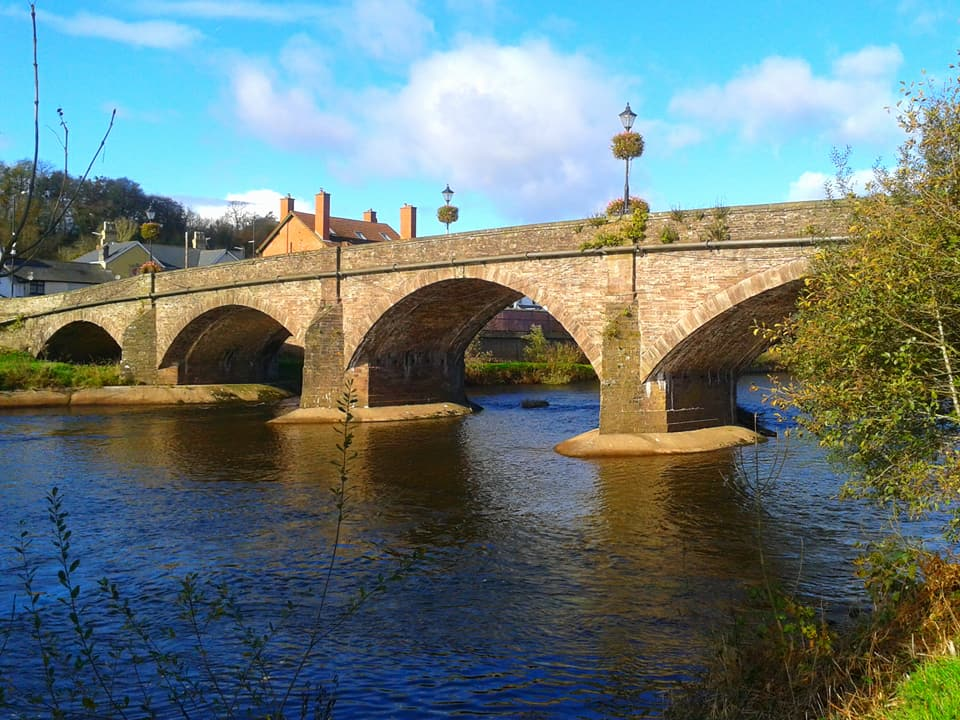 Usk Bridge by Dennis Davies