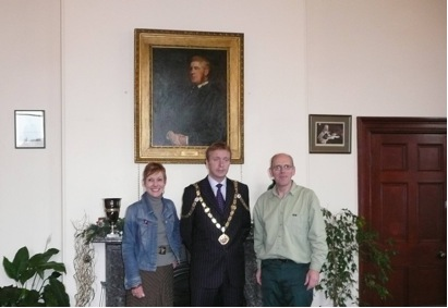 Councillors at the unveiling of the portrait of the 2nd Baronet of the Library